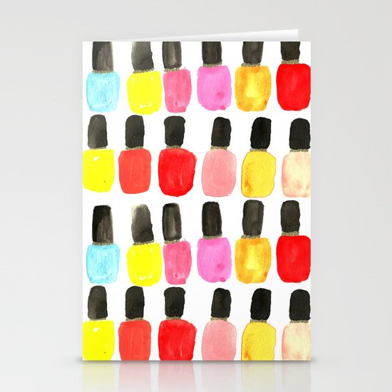 Nail Polish Stationery Card