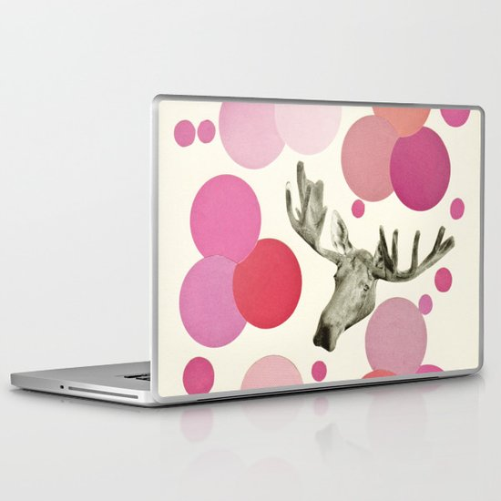 Strawberry Moose Laptop & iPad Skin