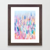 Candy Feathers  Framed Art Print