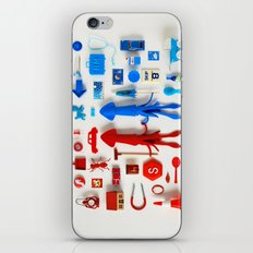 Red Squid, Blue Squid iPhone & iPod Skin