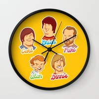Alan & Dennis & Brian & Mike & Carl Wall Clock