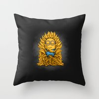 Minion Throne Throw Pillow