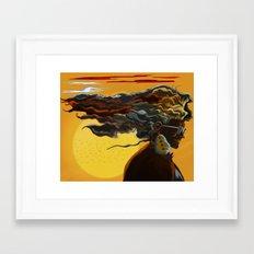Queen's Sunset Framed Art Print