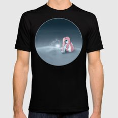 I'm all alone in a world that seems so dark Mens Fitted Tee Black SMALL