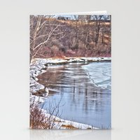 Snowy Riverbank Stationery Cards