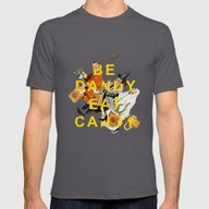 Be Dandy Eat Candy Mens Fitted Tee Asphalt SMALL
