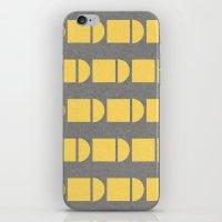 Yellow and grey fun iPhone & iPod Skin
