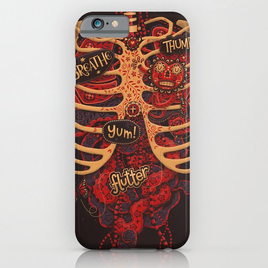 Anatomical Study - Day of the Dead Style iPhone & iPod Case