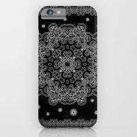 Elegant Black and White Mandala Case iPhone 6 Slim Case