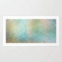 Abstract Greenblue Paste… Art Print