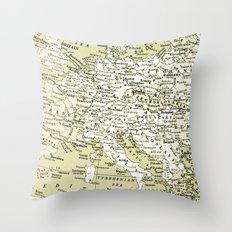 1938 Europe Throw Pillow