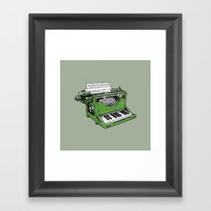 The Composition - G. Framed Art Print