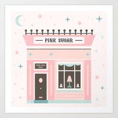 Pink Sugar Bakery  Art Print
