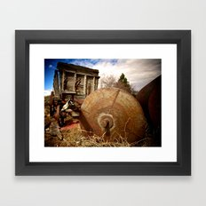 Old Mill Farm Equipment Framed Art Print