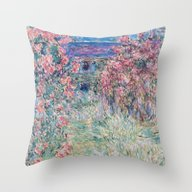 Throw Pillow featuring The House Among The Rose… by Palazzo Art Gallery