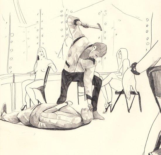 Hammer scene from Drive Art Print