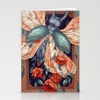 Moth Beetle Stationery Cards