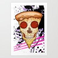 Skull Slice Art Print