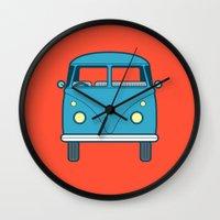 #53 Volkswagen Type 2 Splitscreen Bus Wall Clock