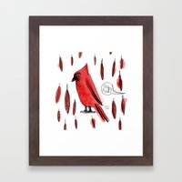 Hey, Red! Framed Art Print