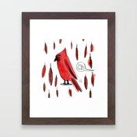 Hey, Red! Framed Art Print