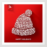 Happy Holidays - Christm… Art Print