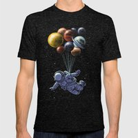 Space travel Mens Fitted Tee Tri-Black SMALL