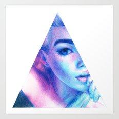 Technicolor Triangle Sh*t Art Print