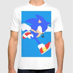 Sonic(Smash) Mens Fitted Tee White SMALL