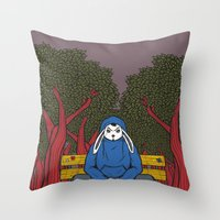ALONE  IN THE PARK Throw Pillow
