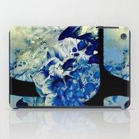 hidden blue peony iPad Case