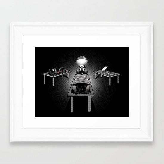 Dexter's Latest Catch Framed Art Print