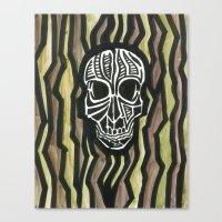 Skull Fiber Canvas Print