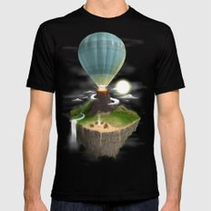 Tropical Escape SMALL Black Mens Fitted Tee