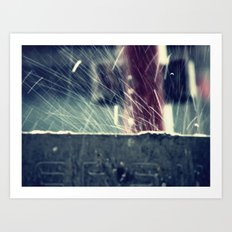Rain splash 2 Art Print