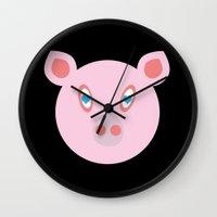 Vegan Message Wall Clock