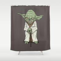 The Dark Side I Sense In You Shower Curtain