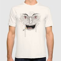 Psycho Mens Fitted Tee Natural SMALL