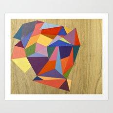 wooden diamond Art Print