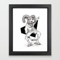 Ram Framed Art Print