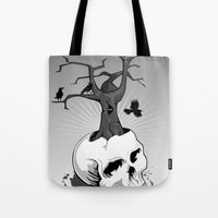 Skull and Tree Tote Bag