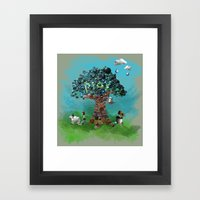 Playing With Buttons And… Framed Art Print
