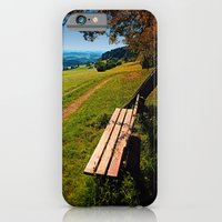 iPhone Cases featuring The bench and the summer by Patrick Jobst
