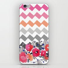 Colourful Flowers and Zig Zags iPhone & iPod Skin
