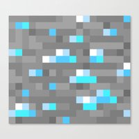 Mined Diamond Block Everything Canvas Print