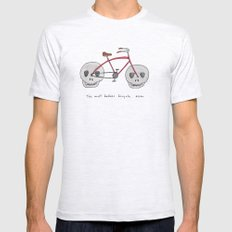 the most badass bicycle ever Mens Fitted Tee Ash Grey SMALL