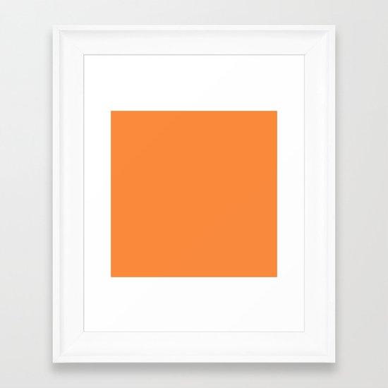 Orange Lollipop Framed Art Print