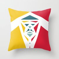 Five Triangle Faces - The Entertainer Throw Pillow