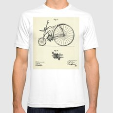 Bicycle- 1890 Mens Fitted Tee White SMALL