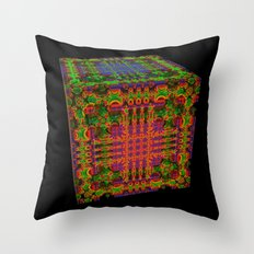 Tech Cubicles | 3D Fractal Throw Pillow